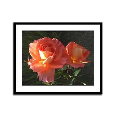 Two Blooms Framed Panel Print