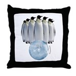 Penguin Bowling Throw Pillow
