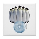 Penguin Bowling Tile Coaster