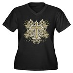 Forgiven Women's Plus Size V-Neck Dark T-Shirt
