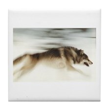"""Running Wolf"" Tile Coaster"