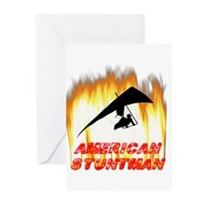 Hang Gliding Stuntman Greeting Cards (Pk of 10)