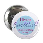 """Easy World 2.25"""" Button (10 pack)"""