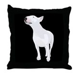 Cool White bull terrier Throw Pillow