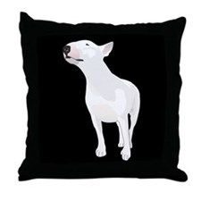 Funny English terrier Throw Pillow