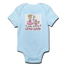 Stick Princess Duo Little Sis (s) Infant Bodysuit