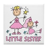 Stick Princess Duo Little Sister Tile Coaster
