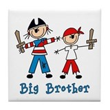 Stick Pirates Big Brother Tile Coaster