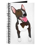 Cute Bull terrier dog Journal