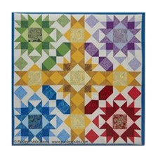 Cute Quilting Tile Coaster