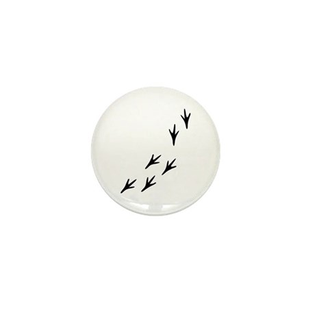 Bird Tracks Mini Button (10 pack)