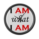 I Am What I Am Large Wall Clock