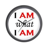 I Am What I Am Wall Clock