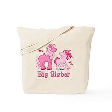 Pink Ponys Big Sister Tote Bag