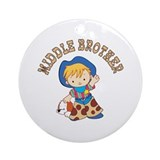 Cowkids Middle Brother Ornament (Round)