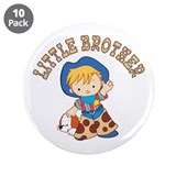 "Cowkids Little Brother 3.5"" Button (10 pack)"