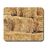 Stacked Hay/Straw Bales Mousepad