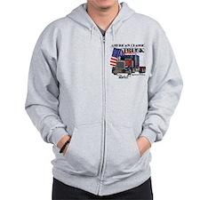 Classic Peterbilt Truck Zip Hoodie