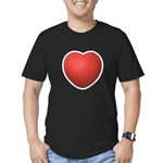Dodgeball Love Men's Fitted T-Shirt (dark)