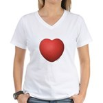 Dodgeball Love Women's V-Neck T-Shirt
