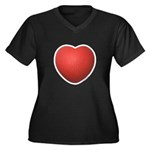 Dodgeball Love Women's Plus Size V-Neck Dark T-Shi