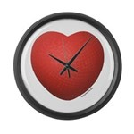 Dodgeball Love Large Wall Clock