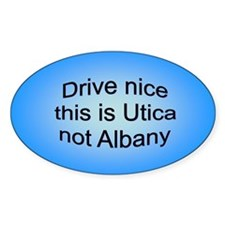 Utica n AB Oval Decal