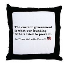 Current Government Throw Pillow