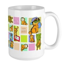 Classic Garfield Squares Coffee Mug