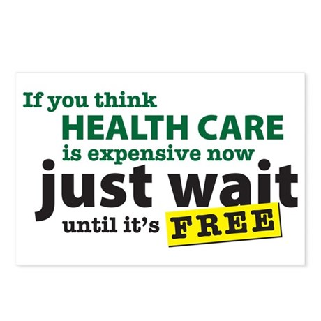 Expensive Health Care Postcards (Package of 8)