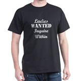 Ladies Wanted Black T-Shirt