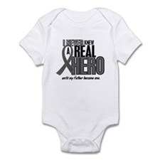 Never Knew A Hero 2 Grey Ribbon Father Infant Body