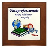 Paraprofessionals Making a Difference Framed Tile