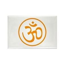 Aum Orange Rectangle Magnet