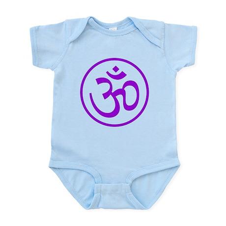 Aum Purple Infant Bodysuit
