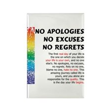 No Apologies Rectangle Magnet (100 pack)