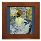 Toulouse-Lautrec Art Framed Tile La Toilette