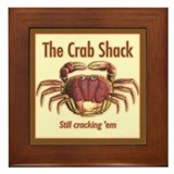 Retro Crab Shack Ceramic Art Framed Tile
