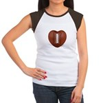 Football Love Women's Cap Sleeve T-Shirt