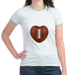Football Love Jr. Ringer T-Shirt