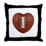 Football Love Throw Pillow
