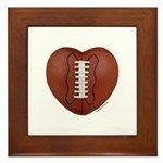 Football Love Framed Tile