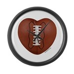 Football Love Large Wall Clock