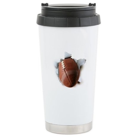Football Burster Ceramic Travel Mug