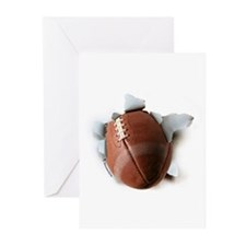Football Burster Greeting Cards (Pk of 10)