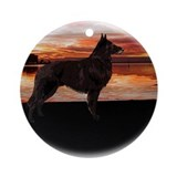 Belgian Tervuren Sunset Ornament (Round)