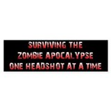 Surviving The Zombie Apocalypse (Bumper Sticker)
