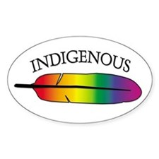 Indigenous Oval Stickers