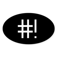 #! Stickers (Oval 50 pk)