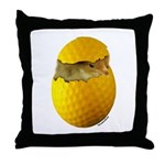 Golf Chick Throw Pillow